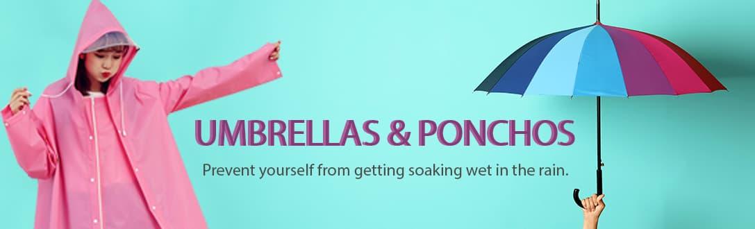 Personalized Ponchos & Umbrellas